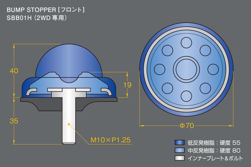■硬度&サイズ詳細:バンプストッパー [フロント]