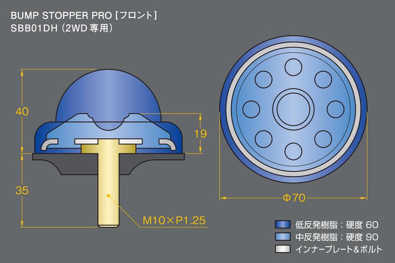 ■硬度&サイズ詳細:バンプストッパーPRO [フロント]