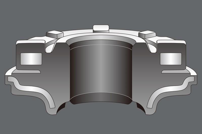 純正と同じ構造を踏襲しながら、形状および硬度を見直すことで大幅な剛性アップを実現。