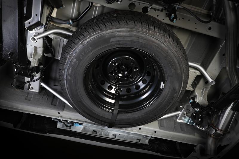 完全ボルトオン設計! スペアタイヤも問題なく装着可能。